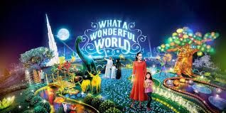 Dubai Garden Glow Theme Park Timing Entry Fees 50 Aed Only
